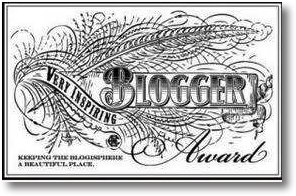 The Very Inspiring Blogger Award Logo
