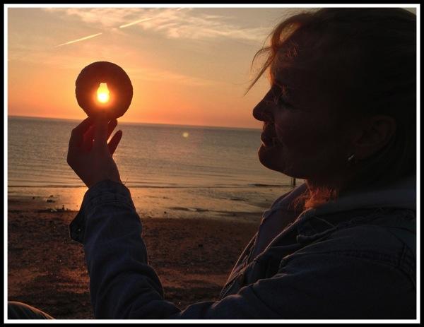 Sunset doughnut