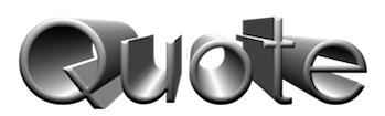 Quote 3D Logo
