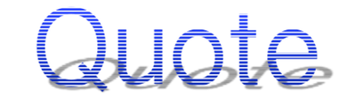 Quote Blue Shadow Logo