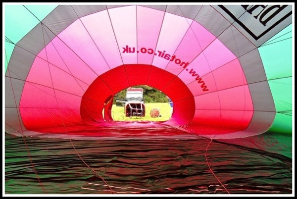 taken while i was stood inside the balloon