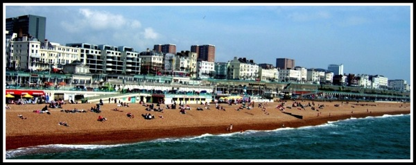 Brighton Beach and sea front