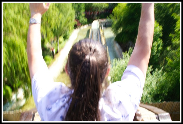 Me at the top of the log flume