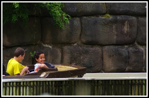 Vini  Bruno on the log flume