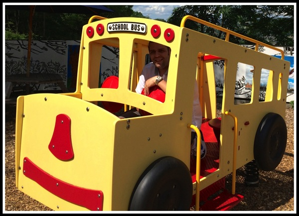 Me driving school bus