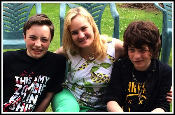 Marshall on left, Sarah in the middle and Alfie on the right