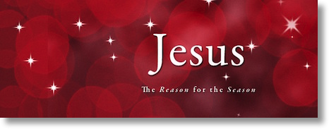 Christmas Logo saying Jesus, the reason for the season