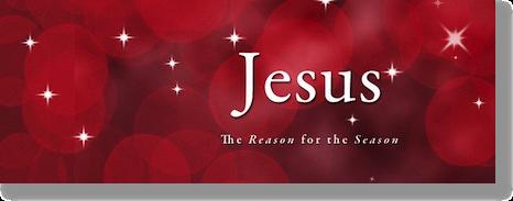Christmas Logo saying Jesus, the reason for the season