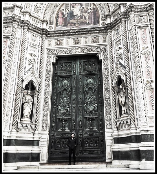 Me in front of the Florence Cathedral