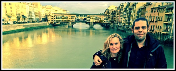Me  Sarah at Firenze river
