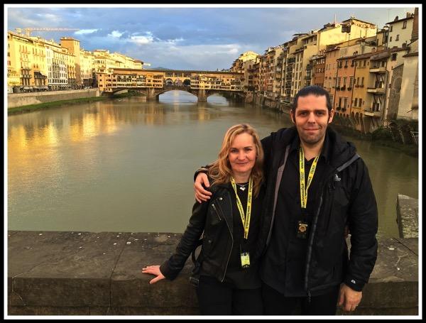 Me  Sarah at the river Arno