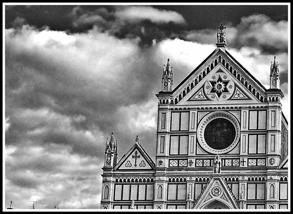 Dark skies hover over the amazing Santa Croce black