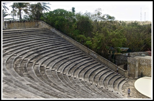 a photo of the circular seating of the Amphitheater left view