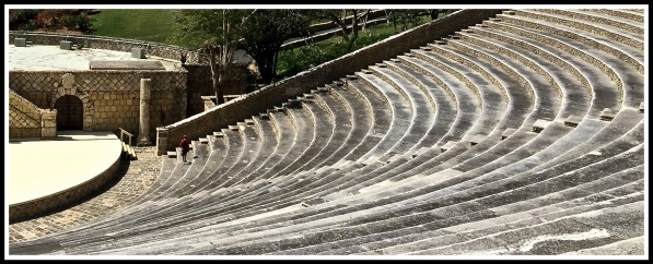 Photo of the circular seating of the Amphitheater right view