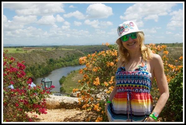 Sarah at the Chavón River