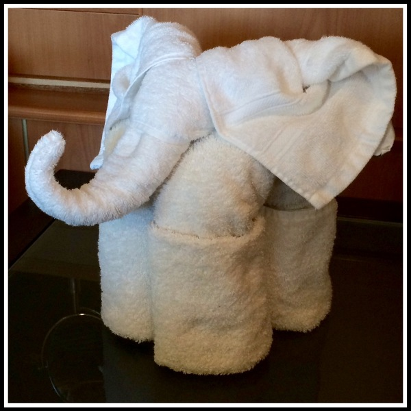 A Towel Elephant using the towels from our suite