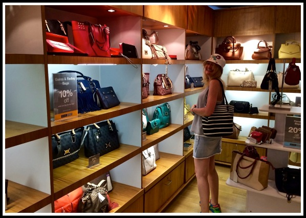 Handbags on ship