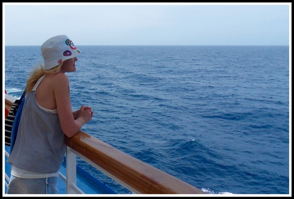 Sarah looking out to sea