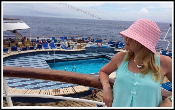 Sarah on deck