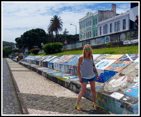 Sarah at Horta marina