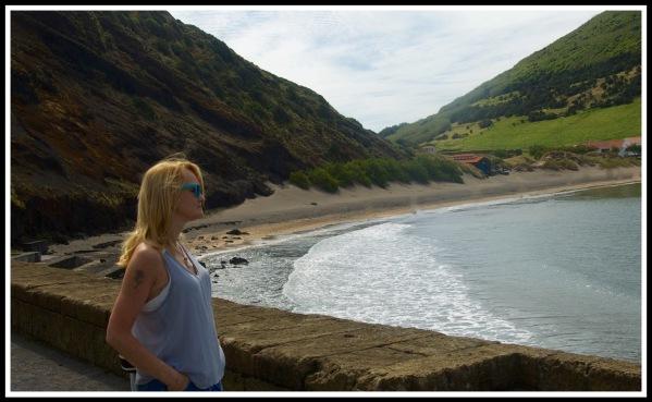 Sarah in Awe at Horta bay