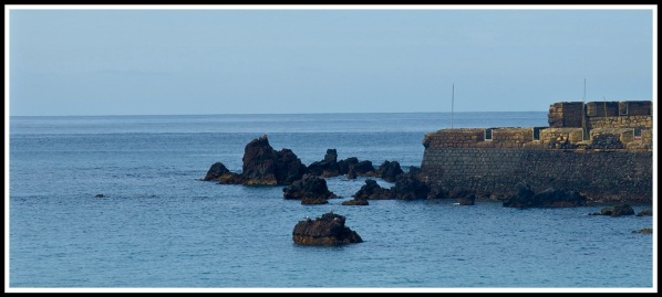 Volcanic rock at Horta bay