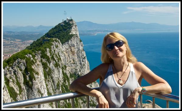 Sarah and the Rock of Gibraltar