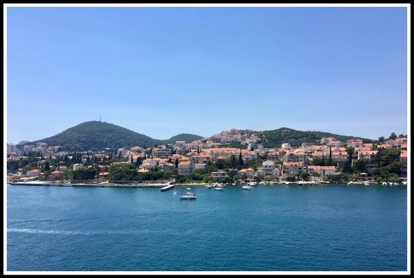 A beautiful landscape of the port of Dubrovnik stood on top of the ship