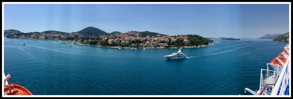 One of Sarah's amazing Panoramas of the bay of Dubrovnik