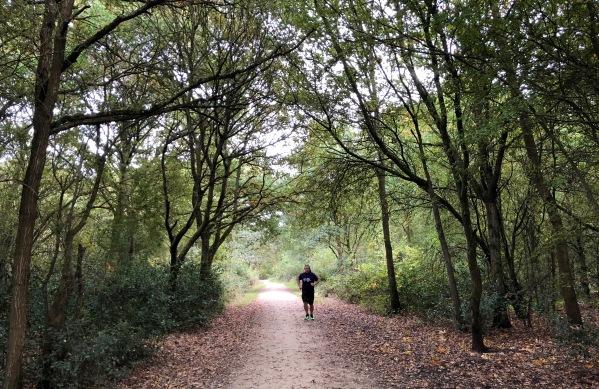 Me running through the woods
