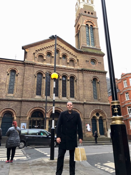 Me at Westminster Chapel