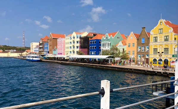View of Curacao colourful Buildings 1