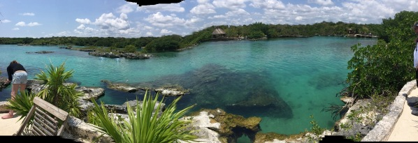 an amazing panorama of the whole lagoon at the mexican