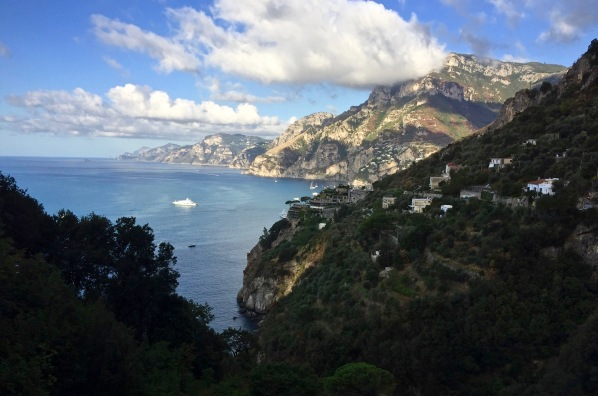 Beautiful rolling hills and mountains of the Amalfi coast