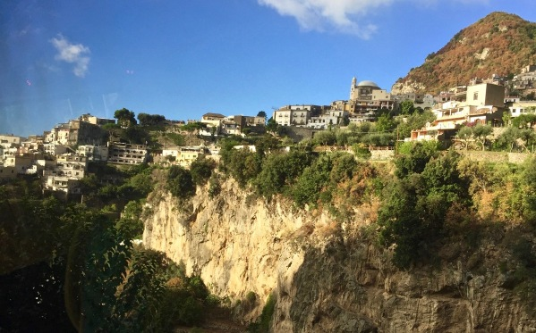 Beautiful rolling hills and mountains of the Amalfi coast