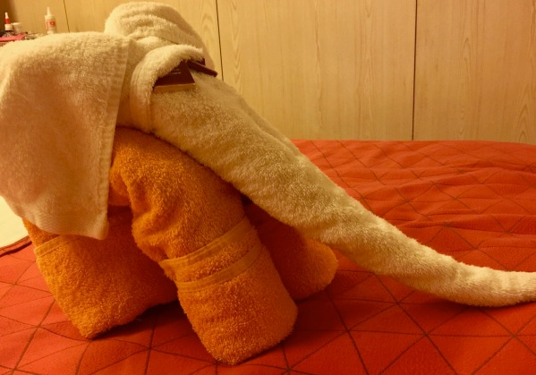 Fantastic elephant folded towel