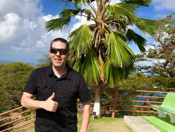 Me in Tobago with my thumb up