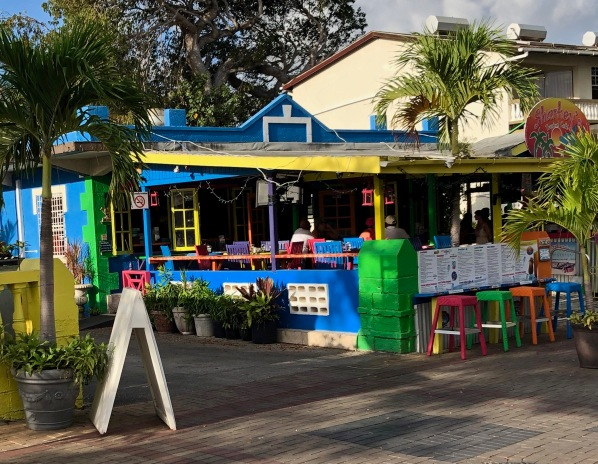 Sharkeys cafe in Barbados