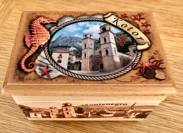 Montenegro box.jpg made from wood with an amazing colourful picture all ove the top