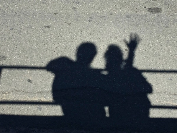 Photo of the shadows of me and Sarah
