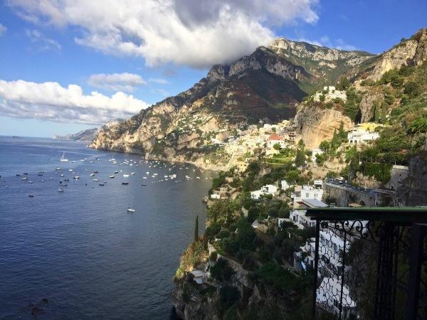 Sarah looking out across the beautiful bay of Amalfi