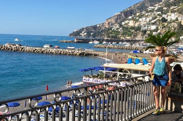 Sarah looking out over the beautiful Amalfi bay