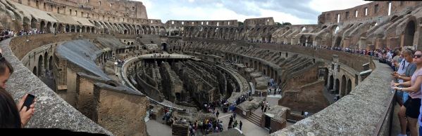 Sarah panorama of the whoe inside of the Colosseum