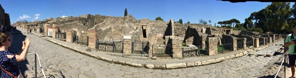 Sarah panorama of the whole row of ancient buildings