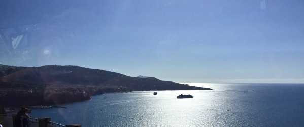 Sunse over the coastline