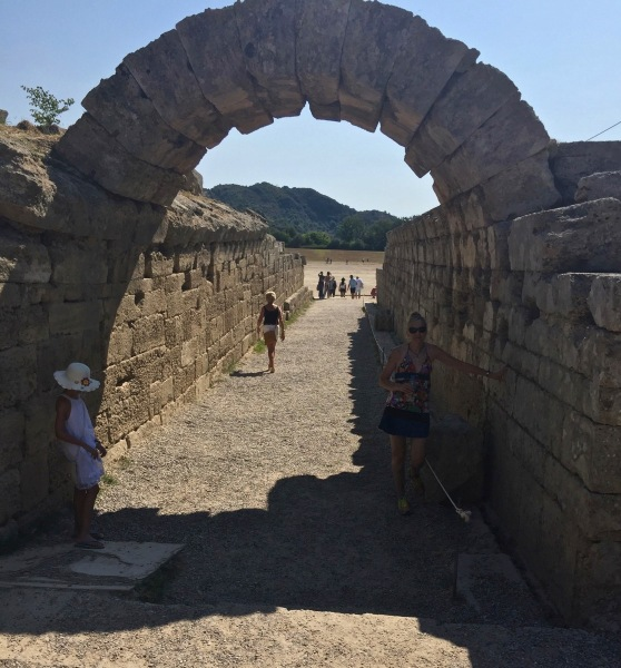 The ancient archway that leads to the track which you can see through the archway