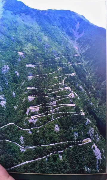The Kotor serpentine road winding up the side of the mountain.
