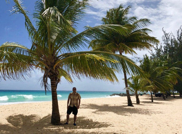 Me under palm trees