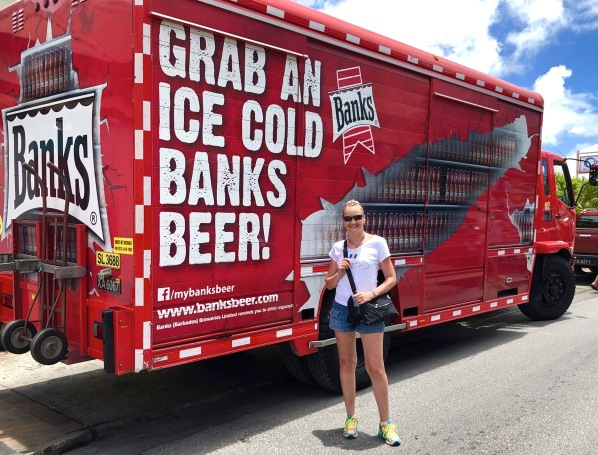 Sarah and Banks beer truck