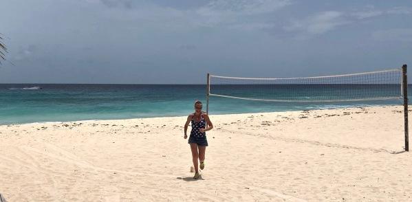 Sarah beach running